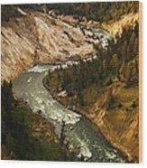 The Snaking Yellowstone Wood Print