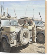 The Snatch Land Rover Used Wood Print