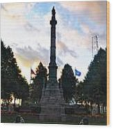 The Soldiers And Sailors Monument In Lafayette Square  Wood Print