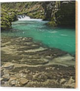 The Soteska Vintgar Gorge In Autumn Wood Print