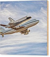 The Space Shuttle Endeavour Wood Print
