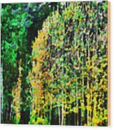 The Speckled Trees Wood Print