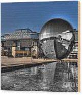 The Sphere At Bristol Wood Print