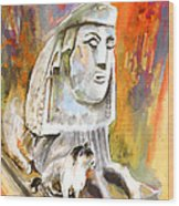The Sphinx Of Petraion Wood Print