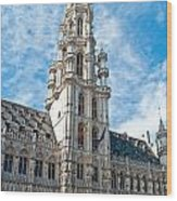the Spire of  Brussels Wood Print
