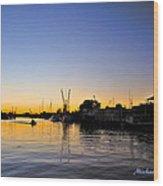 The Sponge Docks After  Sunset Wood Print