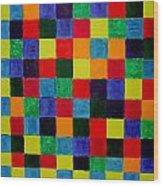 The Square Mandala Wood Print