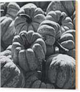 The Squash Harvest In Black And White Wood Print
