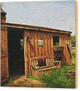 The Stable Wood Print by Paul Ward