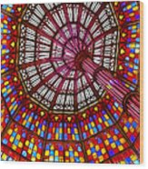 The Stained Glass Ceiling Wood Print