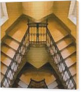 The Staircase Reflection Wood Print
