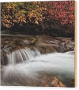 The Steady River Flow Wood Print