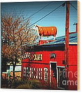 The Steakhouse On Route 66 Wood Print