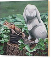The Stone Rabbit Wood Print by Sandra Chase