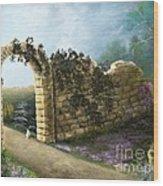 The Stone Wall Wood Print