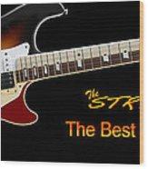 The Strat Les Guitar Wood Print