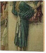 The Street Altar Wood Print by Sir Lawrence Alma-Tadema