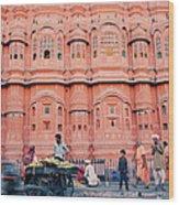Street Life Of India Wood Print