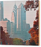 The Streets Of Philadelphia Wood Print
