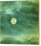 The Sun Through Clouds  Wood Print