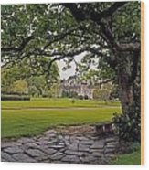 The Sundial Terrace, Glin Castle, Co Wood Print