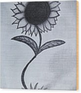 The Sunflower  Wood Print