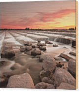 The Sunset By Dam Wood Print