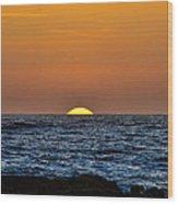 The Sunset Wood Print