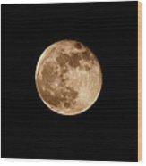 The Super Moon Wood Print