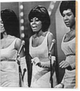The Supremes Florence Ballard, Diana Wood Print by Everett