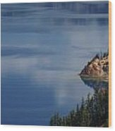 The Surface Of Crater Lake Wood Print