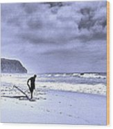 The Surfer Wood Print