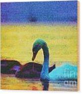 The Swan Family Wood Print by Odon Czintos