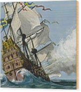The Swedish Warship Vasa Wood Print