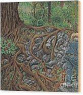 The Sweeper Wood Print