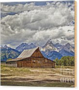 The T. A. Moulton Barn In Grand Teton National Park Wood Print