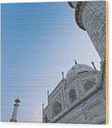 The Taj Mahal At Dusk, Low Angle View Wood Print