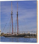 The Tall Ship Pacific Grace Based In Victoria Canada Wood Print by Louise Heusinkveld