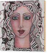 The Tangled Woman Wood Print