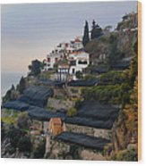 The Terraces Of Amalfi Wood Print
