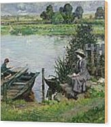 The Thames At Benson Wood Print