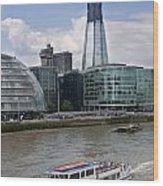 The Thames London Wood Print