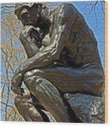 The Thinker By Rodin Wood Print