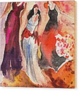 The Three Muses From Paphos Wood Print