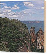 The Three Sisters - The Blue Mountains Wood Print