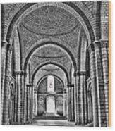 The Tombs At Fontevraud Abbey   France Wood Print