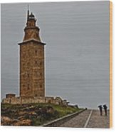 The Tower Of Hercules Wood Print