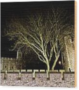 The Tower Of London At Night  Wood Print