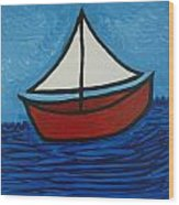 The Toy Boat Wood Print