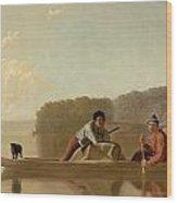 The Trapper's Return Wood Print by George Caleb Bingham